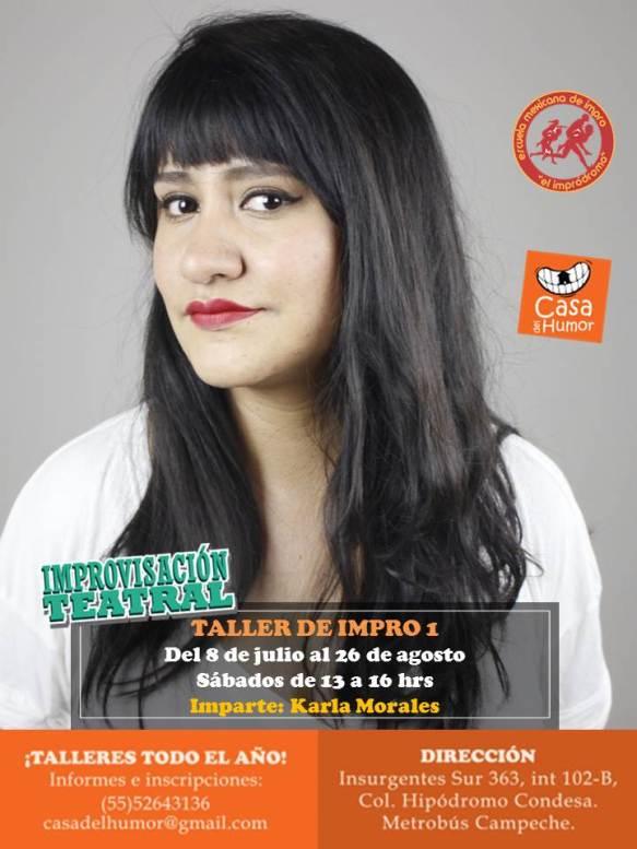 Impro 1 - Karla Morales - 8 de julio al 26 de agosto