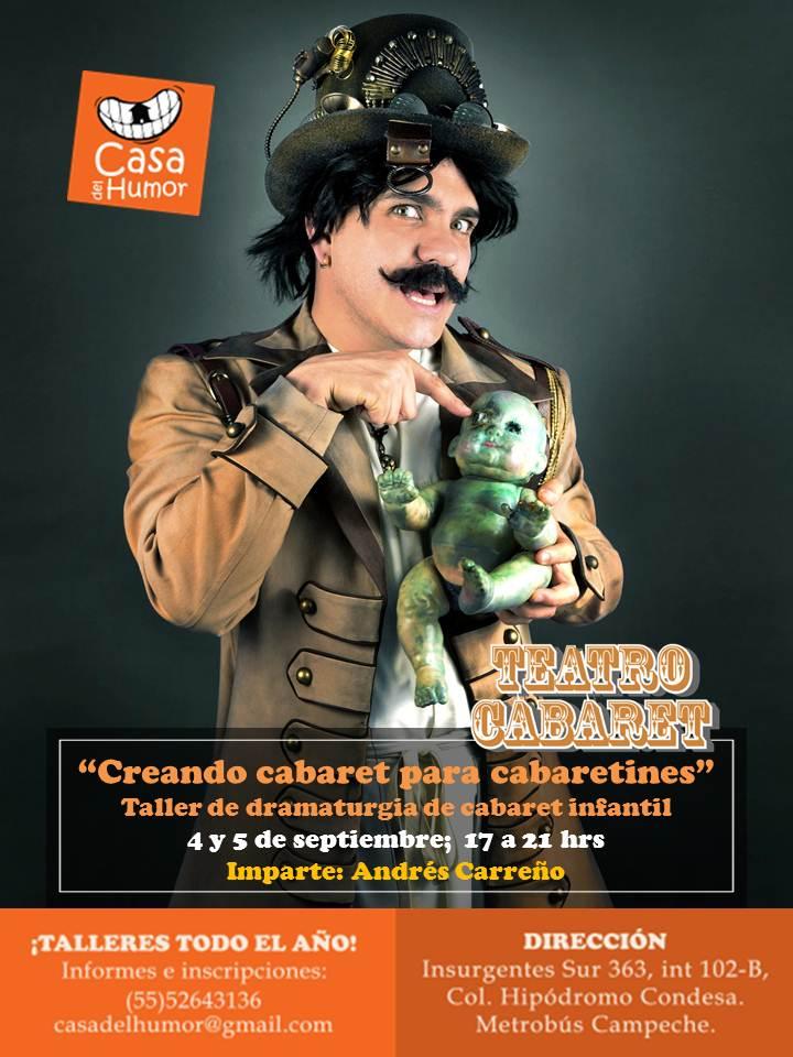 Taller de dramaturgia de cabaret infantil - Andrés Carreño - 4 y 5 de septiembre