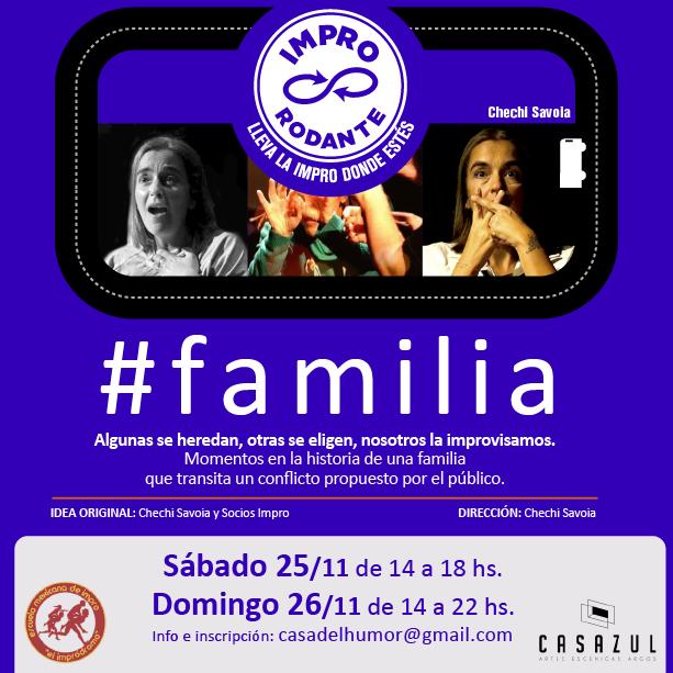 Familia - Chechi Savoia - 25 y 26 de noviembre