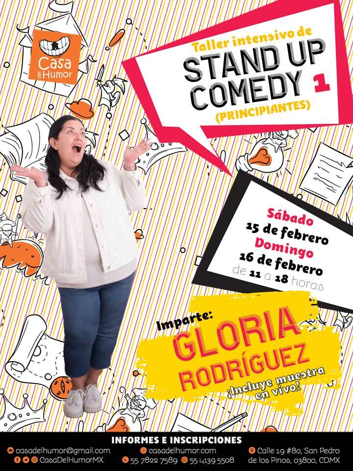 Taller Intensivo de Stand Up Comedy 1 - Gloria Rodríguez - Febrero 2020